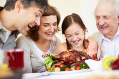 Appetizing turkey - stock photo