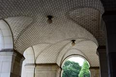 Guastavino Tile Ceiling - New York Municipal Building - stock photo