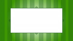 Green Scrollwork Frame Background Stock Footage