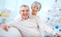 Affectionate seniors - stock photo