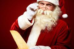 Kind Santa Claus - stock photo