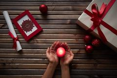 Christmas atmosphere Stock Photos