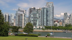Stock Video Footage of Sunny day in the park in False Creek