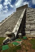chichen itza the castle - stock photo