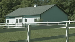 White Horse Barn static Stock Footage