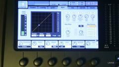 Monitor digital audio mixer 4 Stock Footage