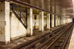Chambers Street Subway Station - New York City Kuvituskuvat