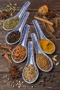 Stock Photo of Oriental Spices - Cooking Ingredients