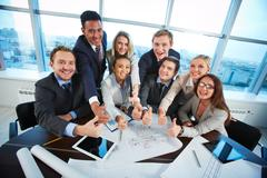 Happy co-workers - stock photo