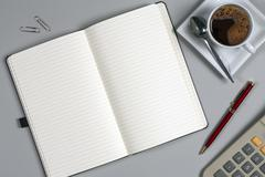Notebook - Office Tabletop - Take a Memo Stock Photos