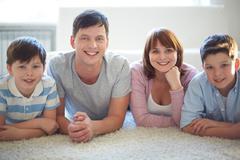 Family of four - stock photo