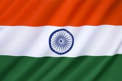Flag of India - stock photo