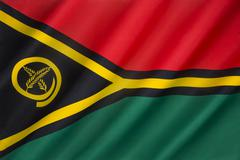 Flag of Vanuatu - stock photo