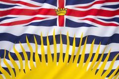 Flag of British Columbia - stock photo