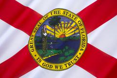 Flag of Florida - United States of America Stock Photos