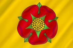 Flag of Lancashire - United Kingdom - stock photo