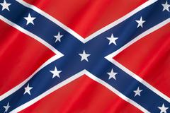 Flag of the Confederate States of America - stock photo