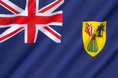 Flag of the Turks and Caicos Islands - stock photo