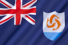 Flag of Anguilla - stock photo