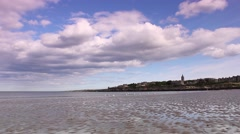 The seashore at St Andrews, Scotland, HD footage Stock Footage