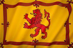 Scotland - Lion Rampant Flag - stock photo