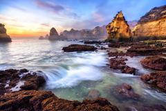 Stock Photo of Magnificent coast scenery at sunrise