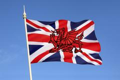 Possible new design for flag of the United Kingdom Stock Photos