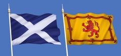 Flags of Scotland Stock Photos