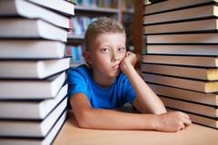 Much to read - stock photo