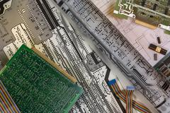 Designing Printed Circuit Boards - stock photo