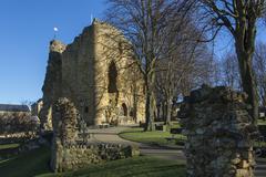 Knearsborough Castle - North Yorkshire - United Kingdom - stock photo