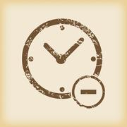 Grungy reduce time icon Stock Illustration