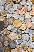 Collection of Worldwide Coins - stock photo