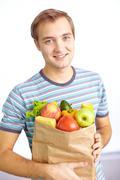 Healthy food eater Stock Photos