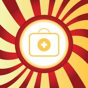 Fisrt aid kit abstract icon - stock illustration