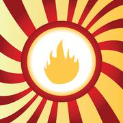 Fire abstract icon Piirros