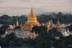 Shwezigon Pagoda - Bagan - Myanmar Stock Photos