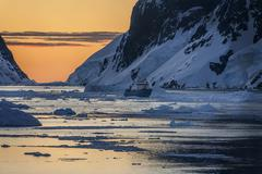 Lemaire Channel - Antarctica - stock photo