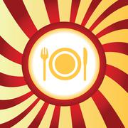 Dishware abstract icon Stock Illustration
