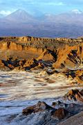 Valley of the Moon - Atacama Desert - Chile - stock photo