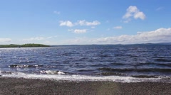 Sea waves at Largs, Ayrshire in Scotland, HD footage Stock Footage