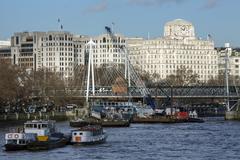 River Thames - London - England - stock photo