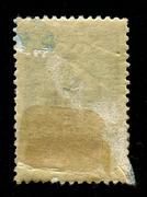 Reverse side of a postage stamp. - stock photo