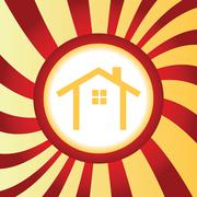 Cottage abstract icon - stock illustration
