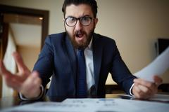 Angry boss - stock photo