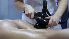 Anti-cellulite massage. LPG massage. Stock Footage
