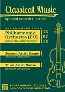 Classical music concert violin vertical music flyer template. Piirros