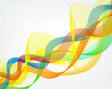 abstract wavy lines graphic - stock illustration