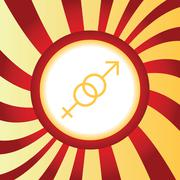 Gender signs abstract icon Stock Illustration