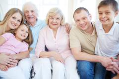 Family of six Stock Photos